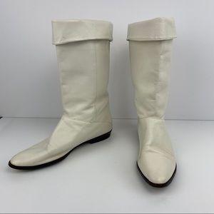 Nine West | Vintage White Phoebe Leather Boots